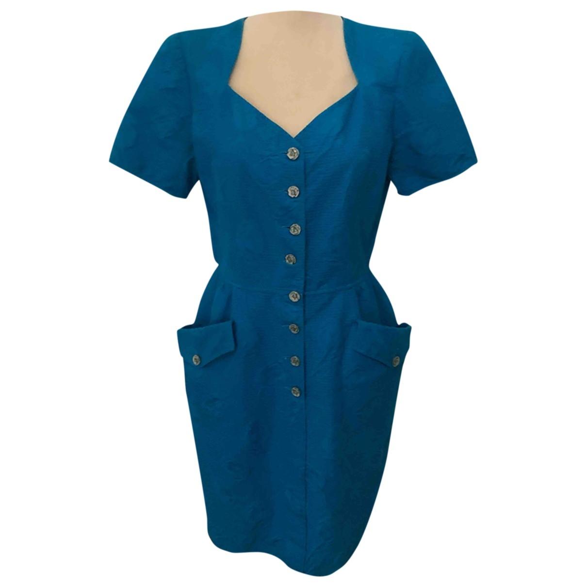 Ungaro Parallele \N Kleid in  Blau Baumwolle