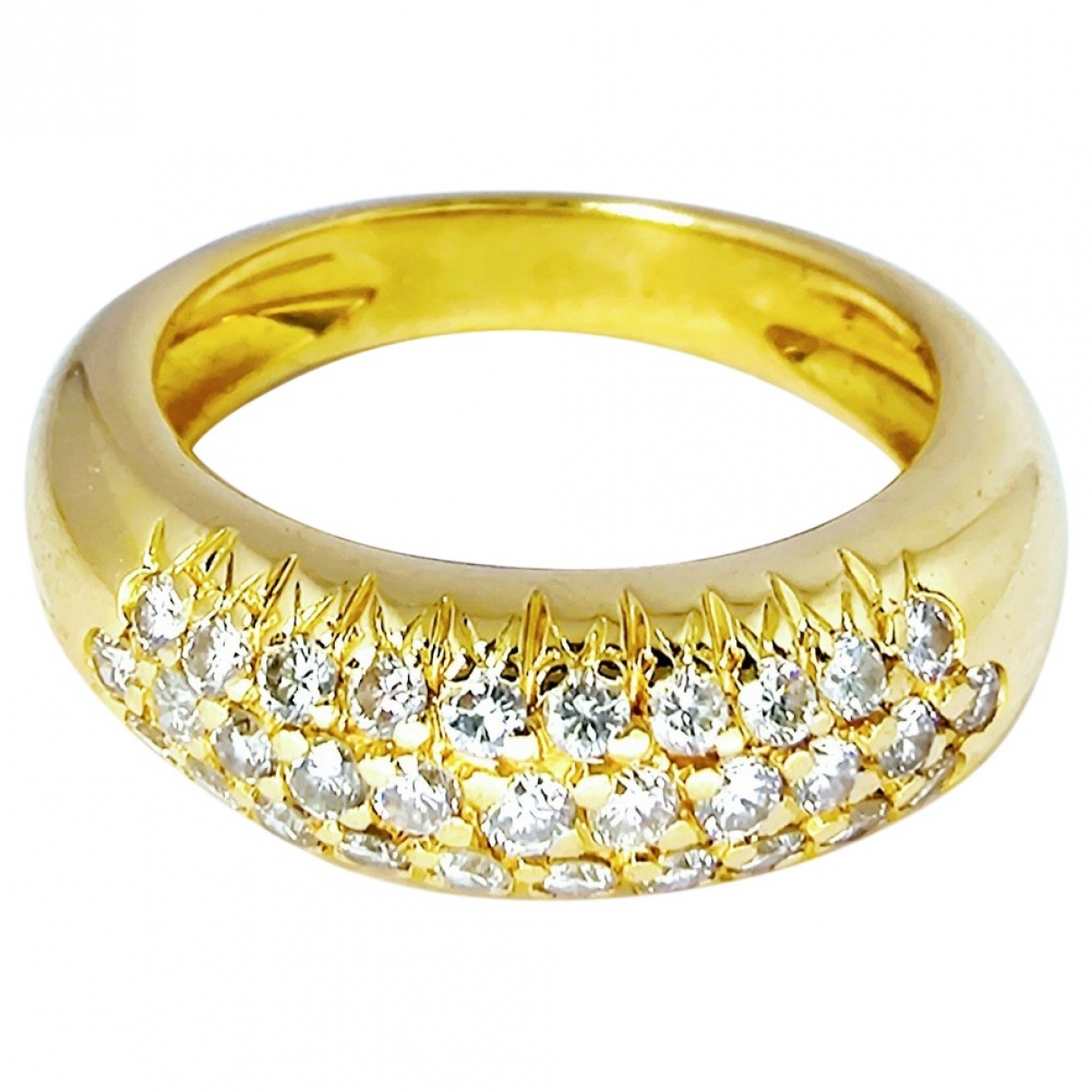 - Bague Jonc pour femme en or jaune - dore