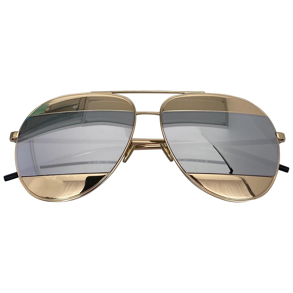 Dior Split Gold Metal Sunglasses for Women \N