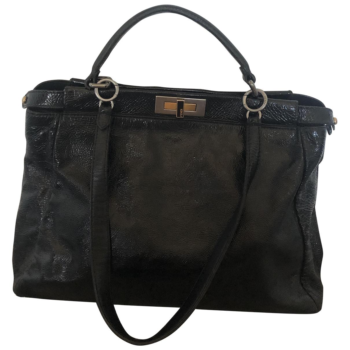 Fendi Peekaboo Black Patent leather handbag for Women \N
