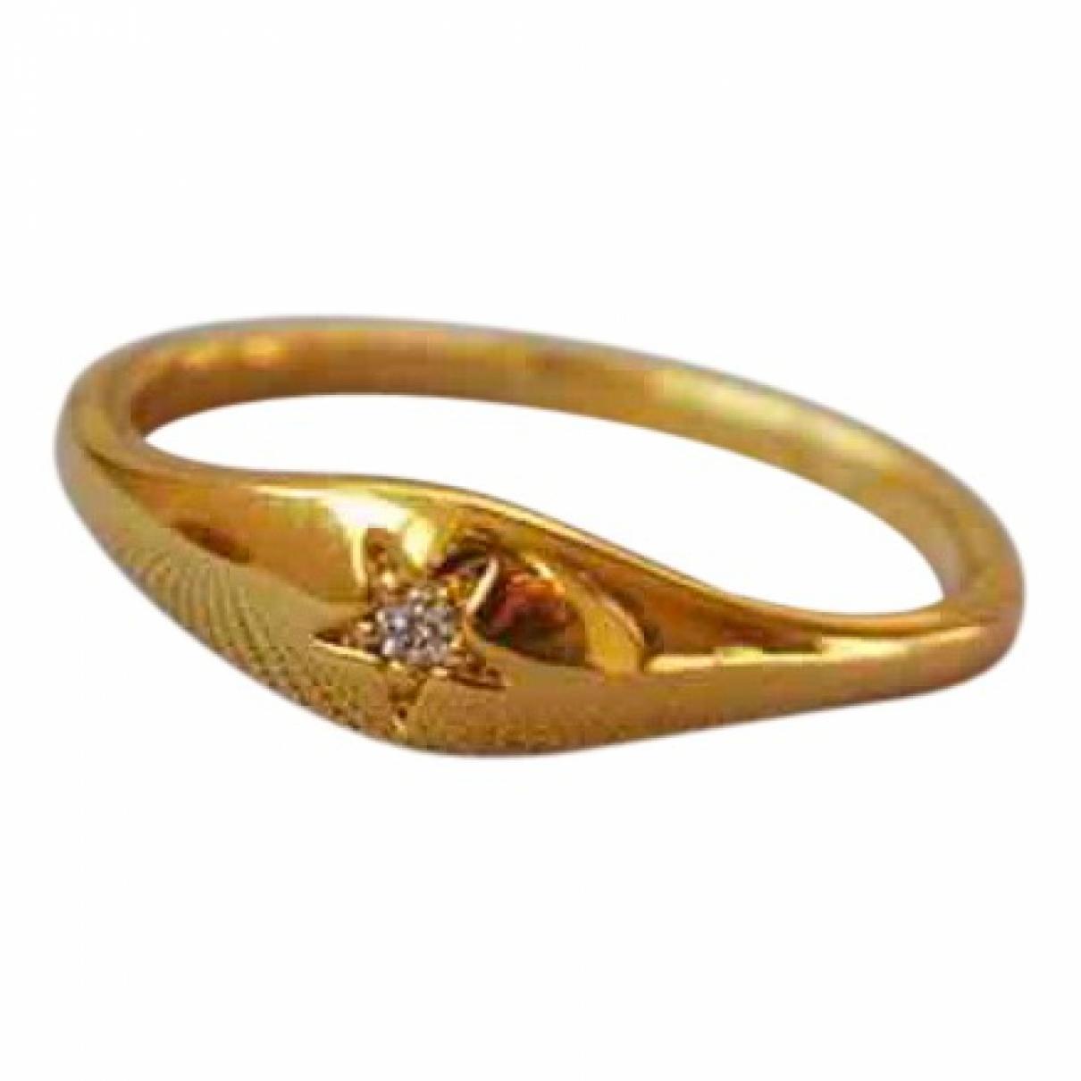Non Signe / Unsigned Motifs Etoiles Ring in  Gold Vergoldet