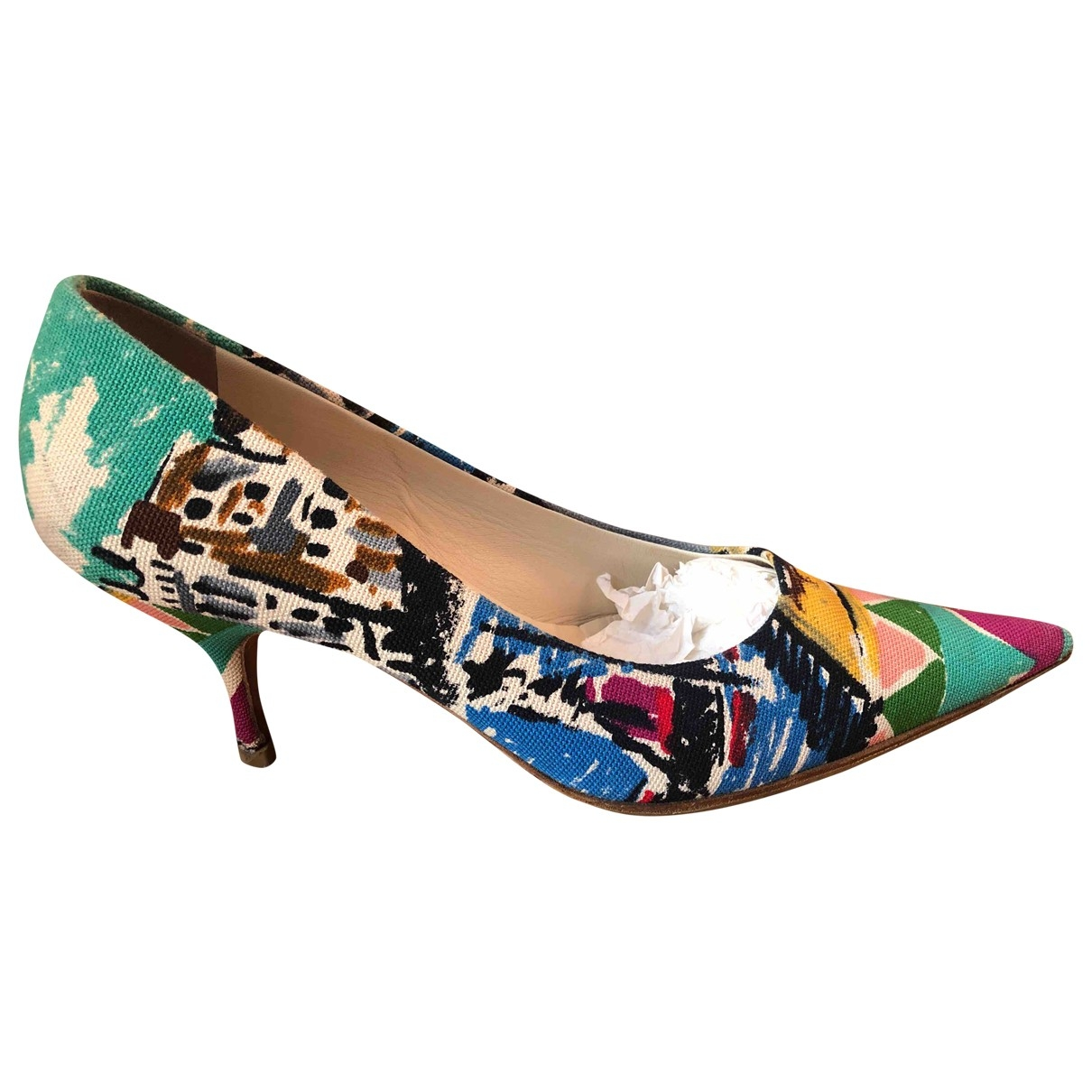 Prada \N Multicolour Cloth Heels for Women 37.5 EU