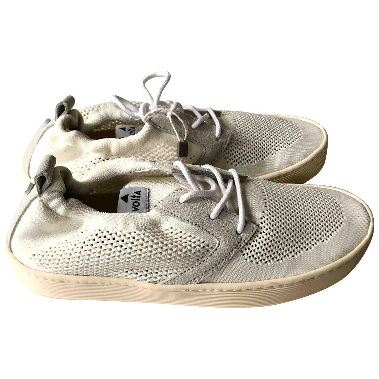 Volta Footwear \N Sneakers in  Beige Leinen