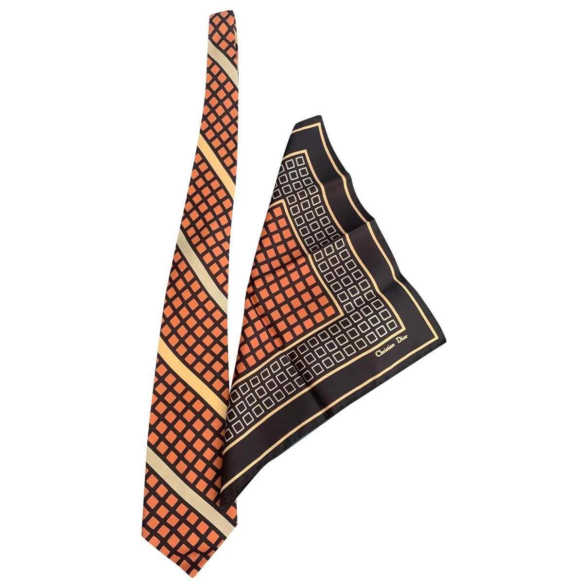 Dior Homme - Cravates   pour homme en soie - orange