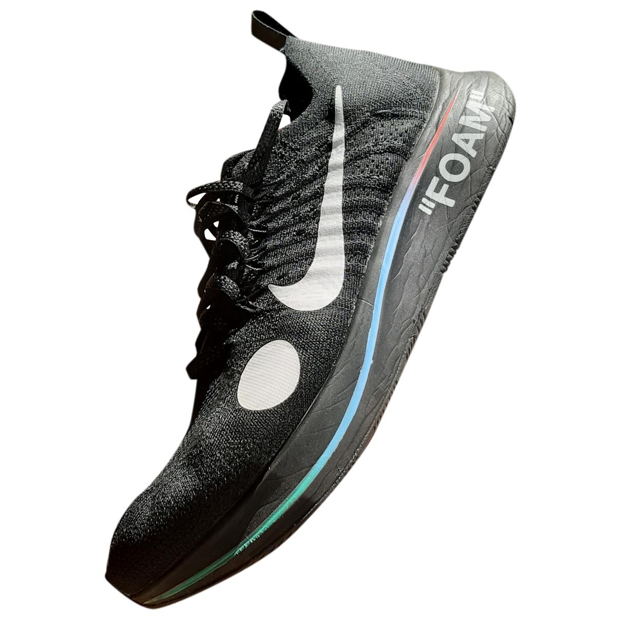 Nike X Off-white - Baskets Zoom Fly Mercurial pour homme en toile - noir