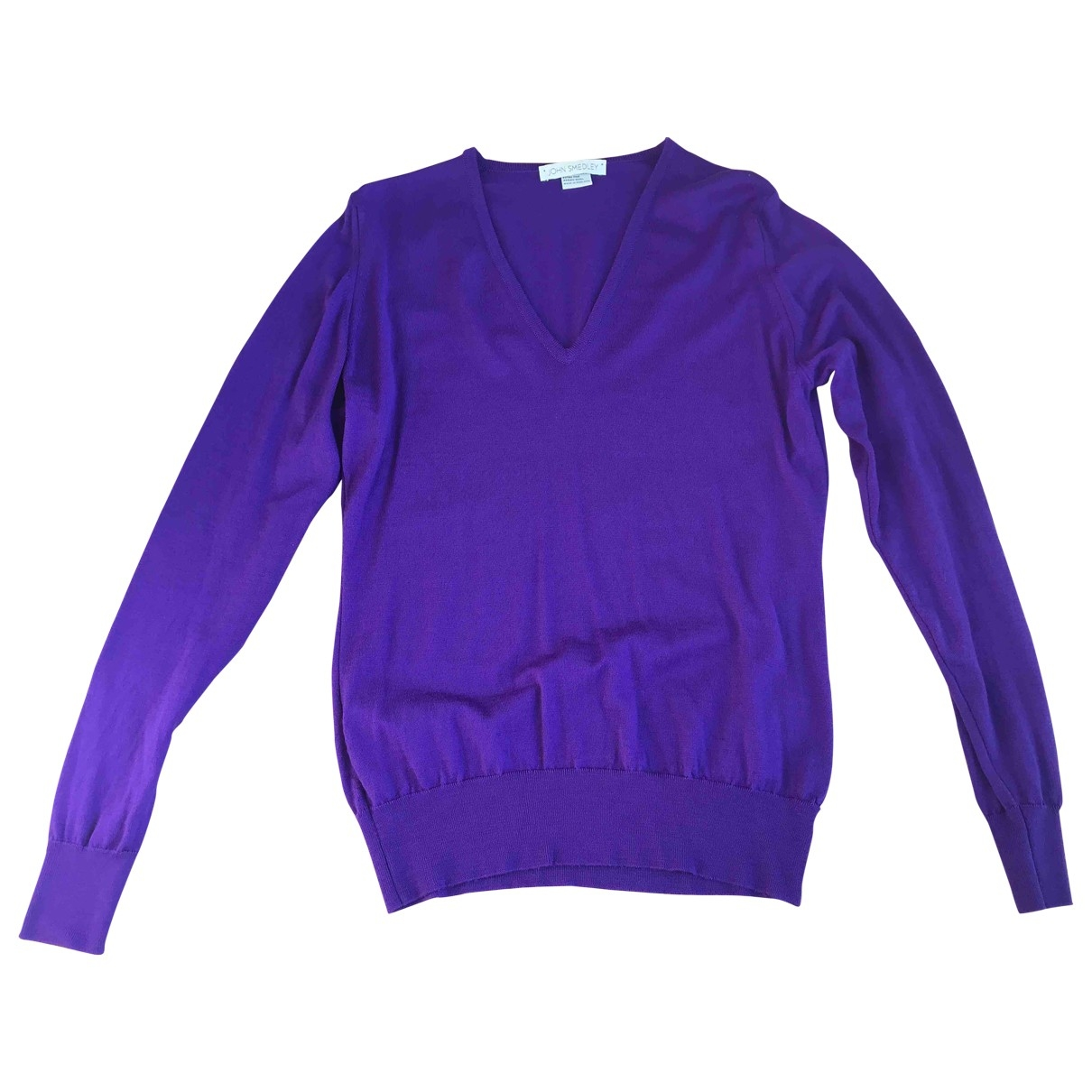 John Smedley \N Pullover in  Lila Wolle