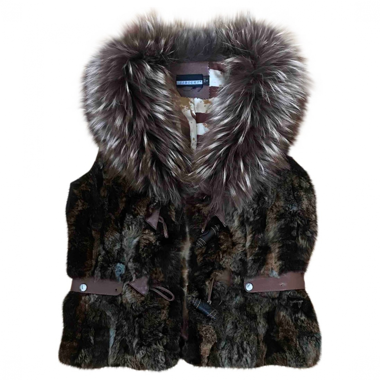 Non Signé / Unsigned \N Brown Rabbit jacket for Women 36 FR