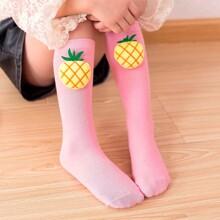 Kleinkind Maedchen Socken mit Obst Dekor
