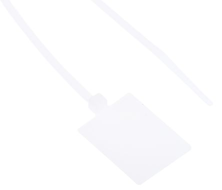RS PRO Natural Marker Cable Tie 130x2.5, White