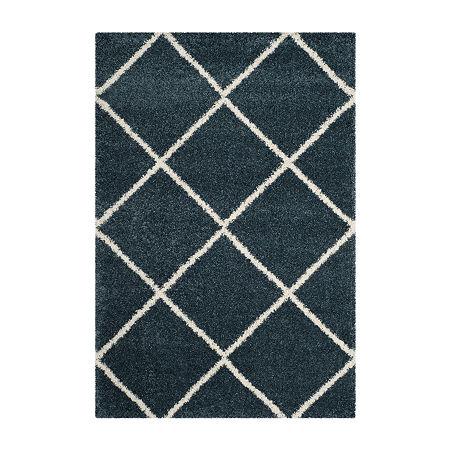 Safavieh Hudson Shag Collection Salome Geometric Area Rug, One Size , Multiple Colors