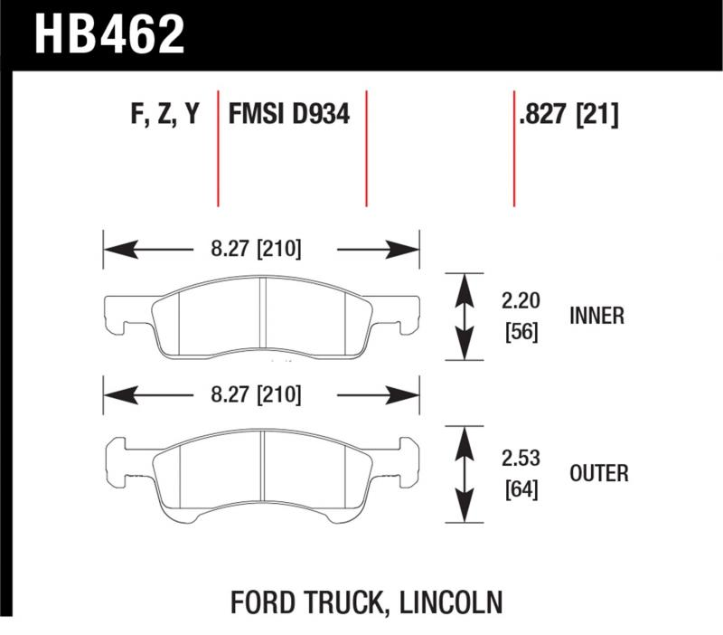 Hawk Performance HB462Z.827 Disc Brake Pad Front