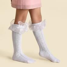 Baby Lace Trim Long Socks