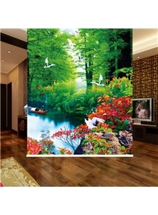 Colored Nature Scenery 3D Printed Blackout Roller Shades