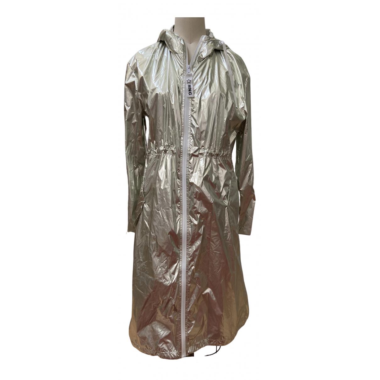 Mango - Robe   pour femme - metallise