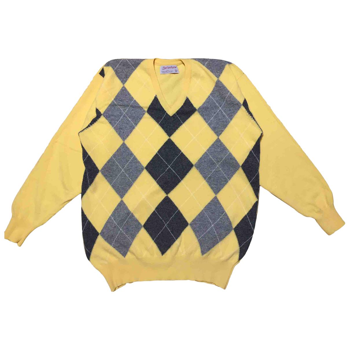 Ballantyne \N Pullover.Westen.Sweatshirts  in  Gelb Wolle