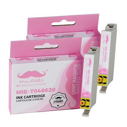 Compatible Epson T048620 cartouche d'encre magenta clair - Moustache@ - 2/paquet