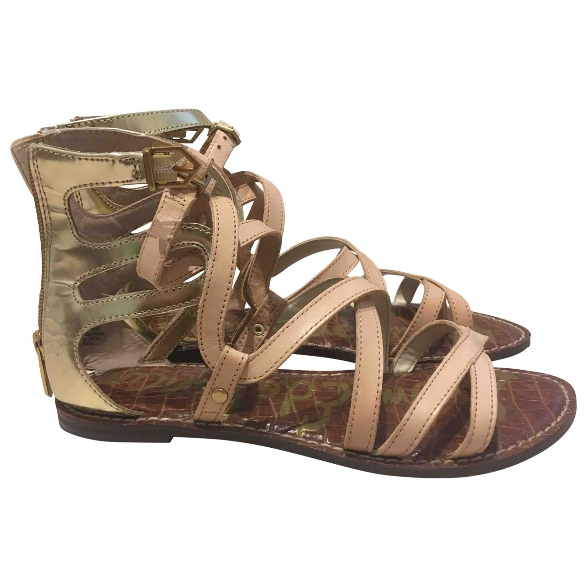 Sam Edelman \N Beige Leather Sandals for Women 36 EU