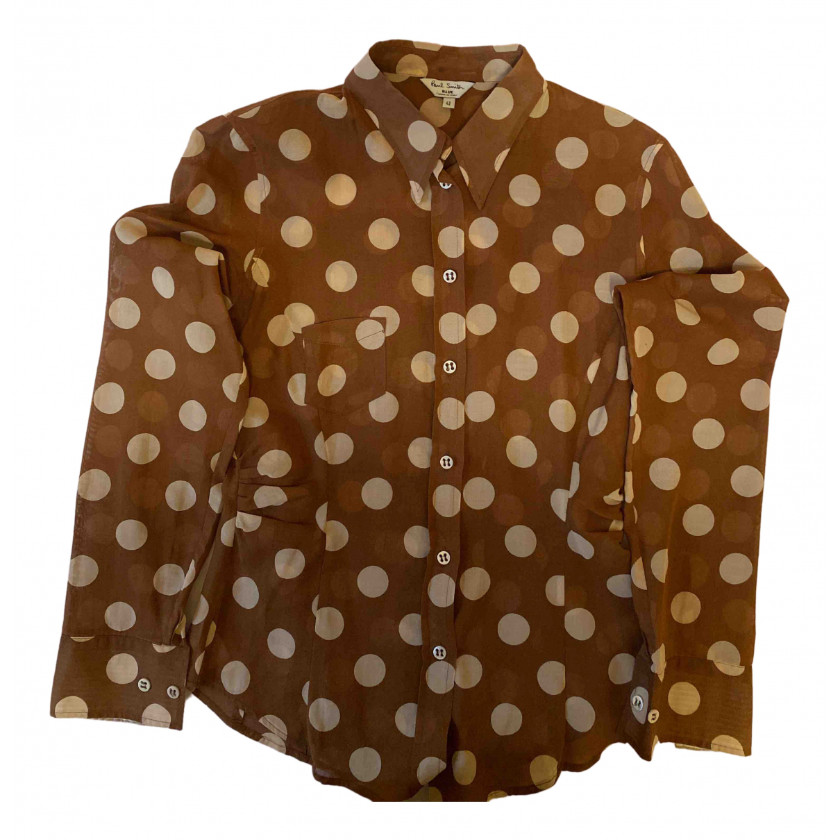 Paul Smith N Brown Cotton  top for Women 42 IT