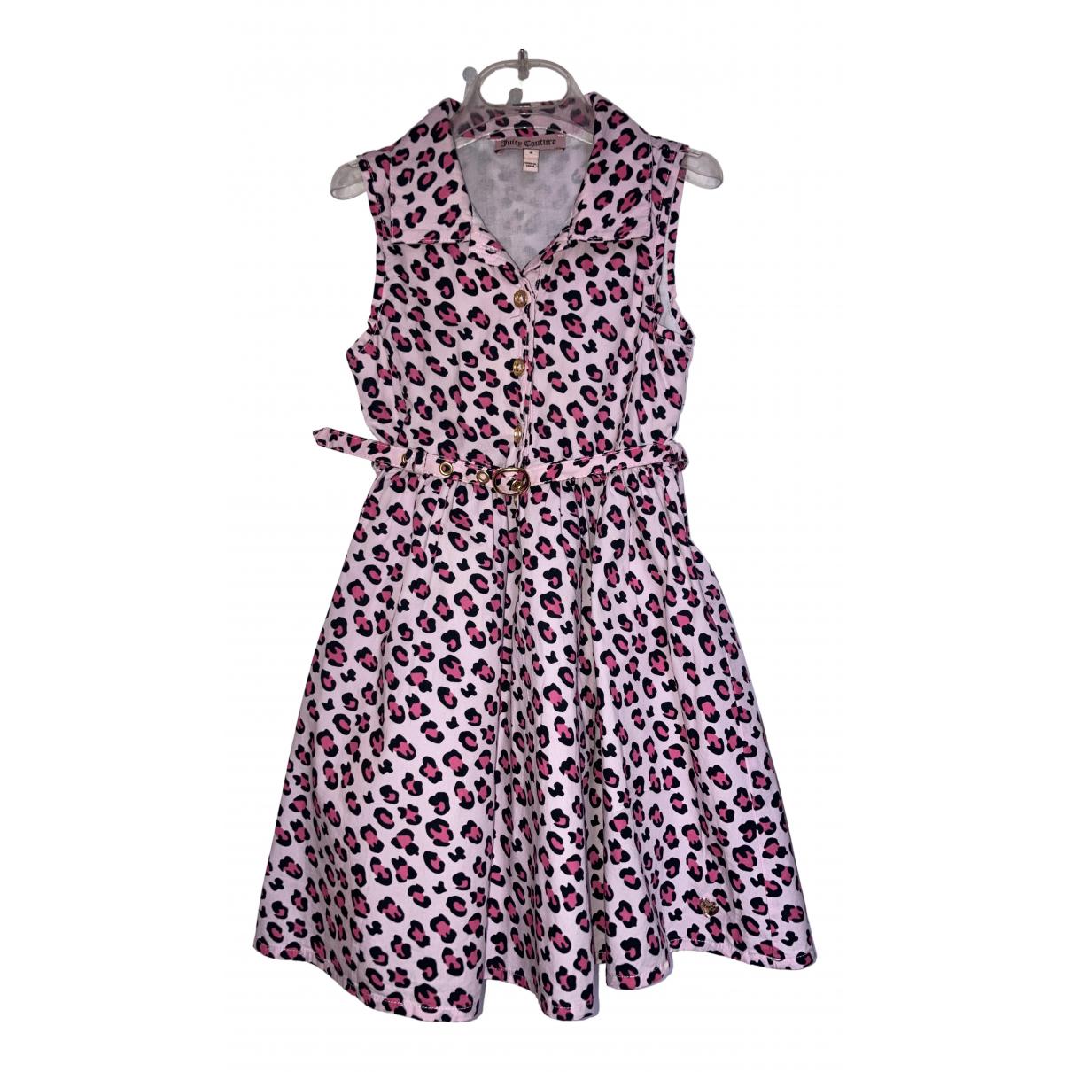 Juicy Couture - Robe    pour enfant en coton - rose