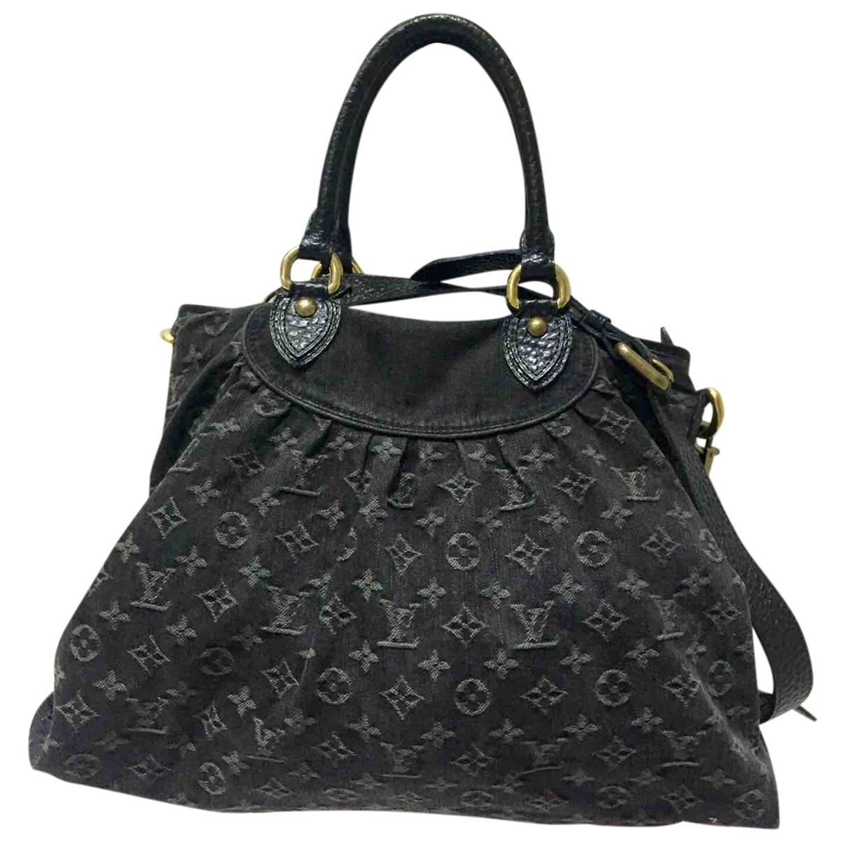 Louis Vuitton - Sac a main   pour femme en denim - noir
