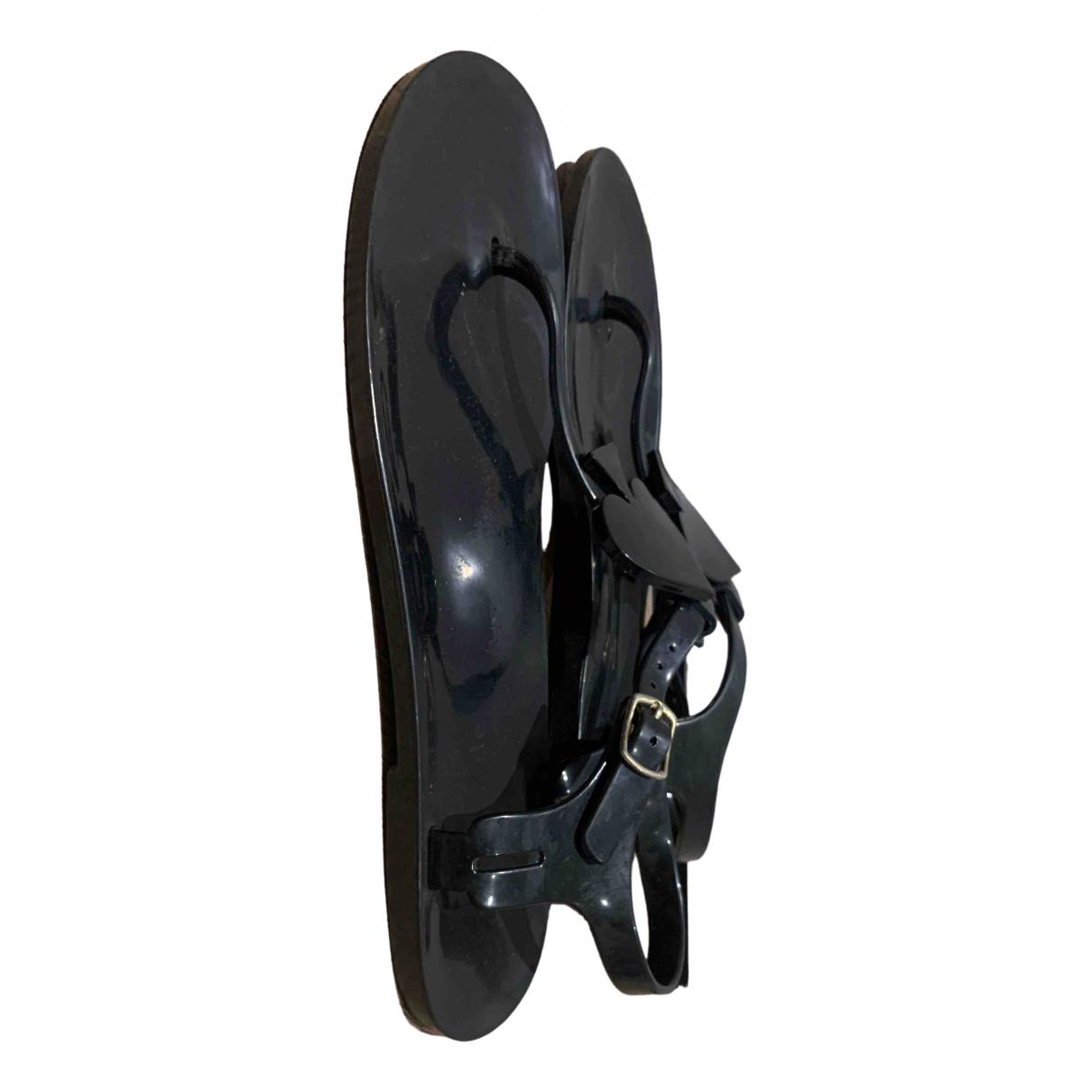 Kate Spade \N Black Glitter Sandals for Women 8 UK