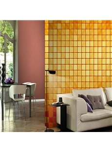 Yellow and Orange Plaids Durable Waterproof and Eco-friendly 3D Wall Mural