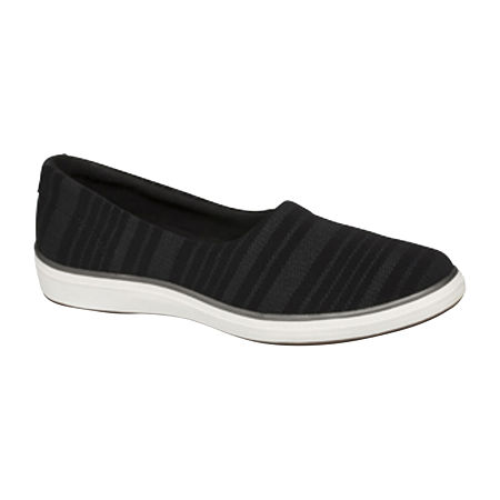 Grasshoppers Womens Lacuna Woven Slip-On Shoes, 7 Medium, Black