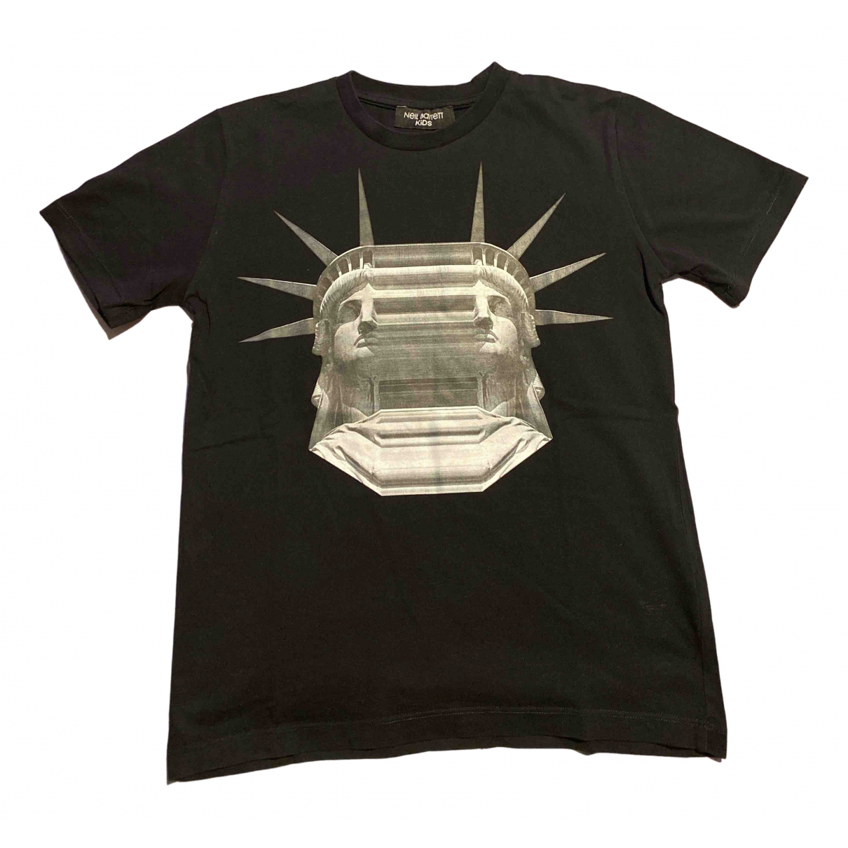 Neil Barrett N Black Cotton  top for Kids 10 years - up to 142cm FR