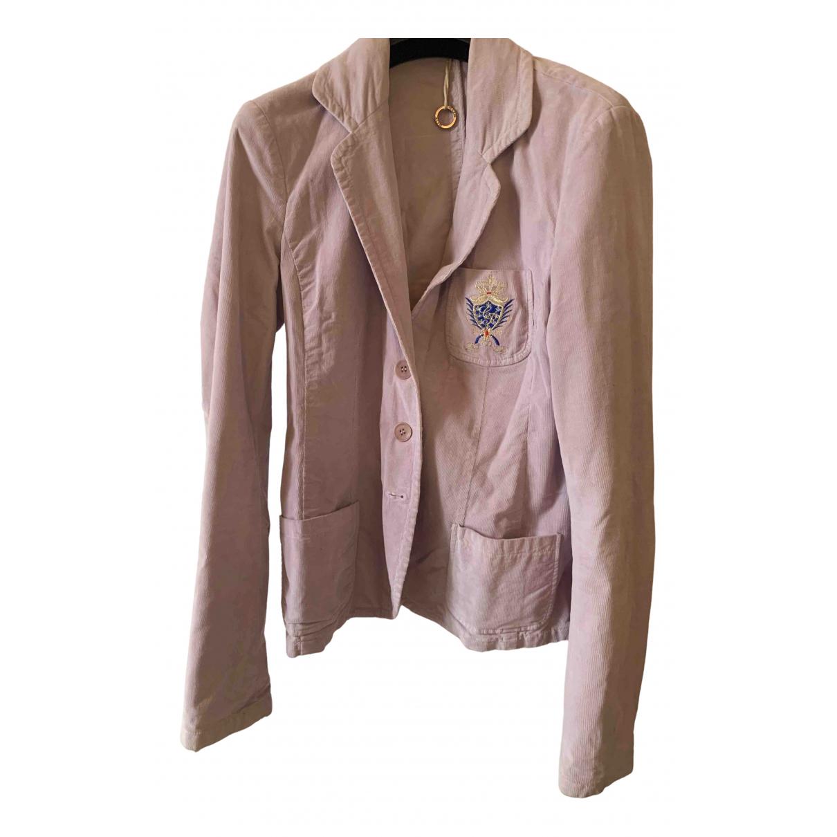 Cesare Paciotti N Purple Cotton jacket for Women 42 IT