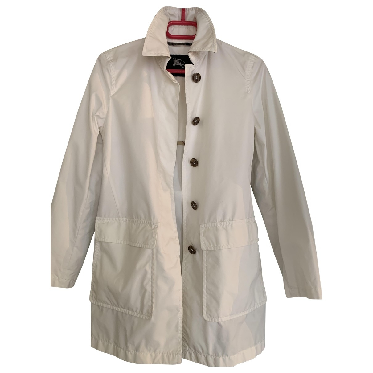 Burberry \N White Cotton Trench coat for Women 36 FR