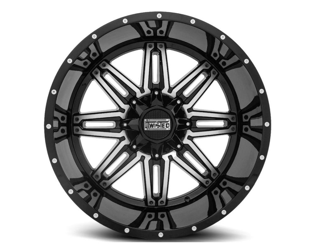 Twisted Off-Road T-25201051397150-24GBM T-25 Billet Wheel 20x10 5x139.7|5x150 -24mm Black Machined