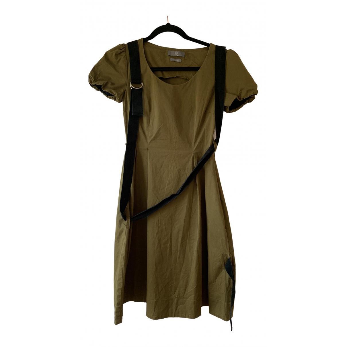 Mcq \N Kleid in  Khaki Baumwolle