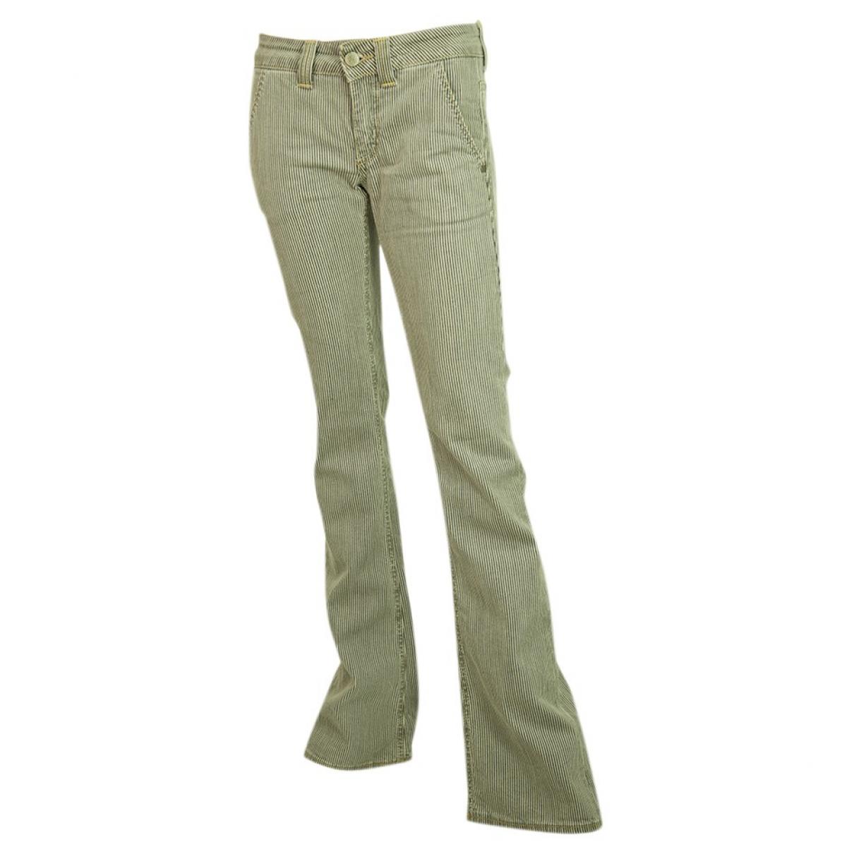 Dondup \N Multicolour Cotton Trousers for Women S International