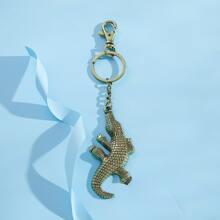 Men Crocodile Charm Keychain