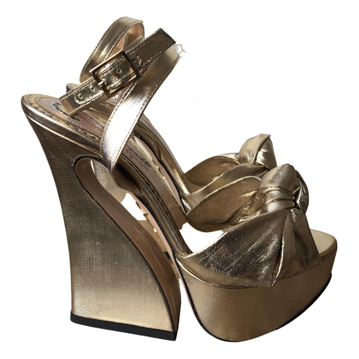 Charlotte Olympia \N Pumps in  Gold Leinen