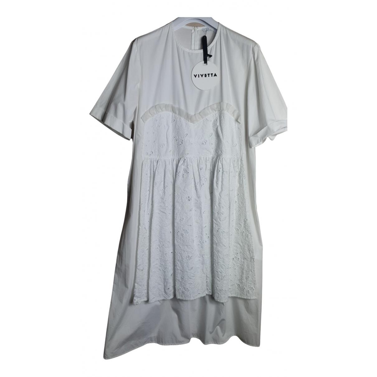 Vivetta N White Cotton dress for Women 38 IT