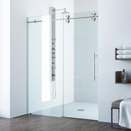 Elan Collection VG6041STCL6874 Adjustable Frameless Sliding Shower