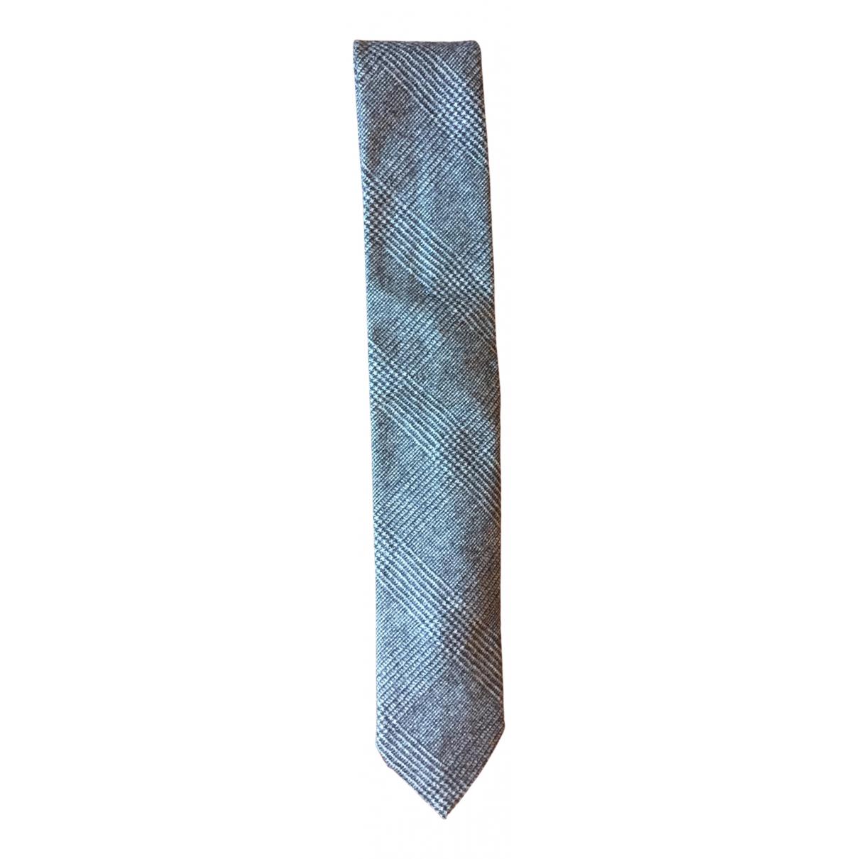 Breuer - Cravates   pour homme en laine - gris