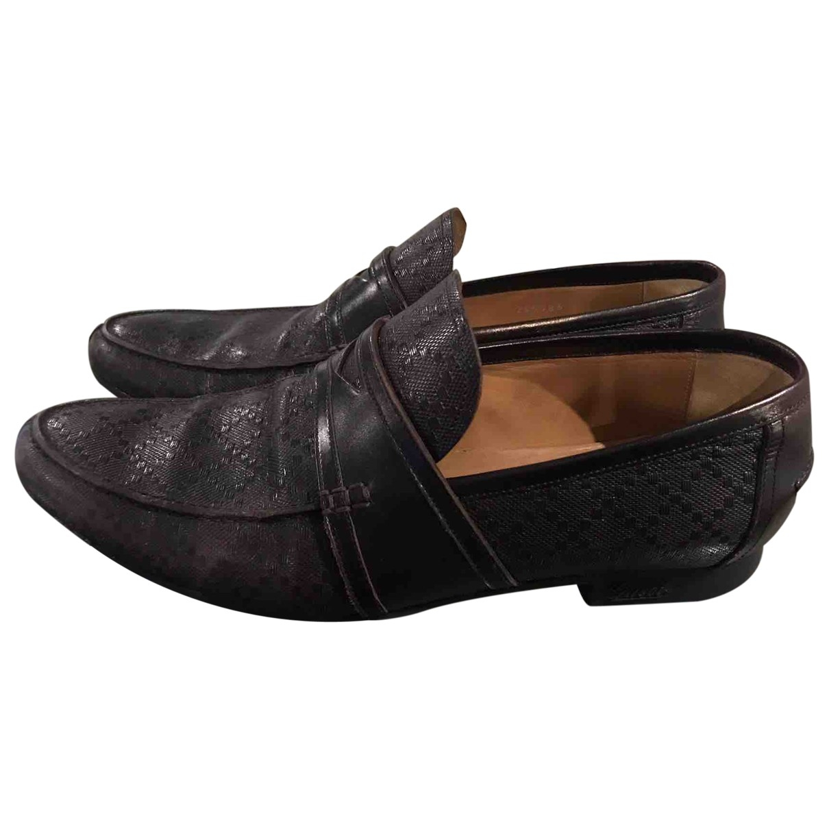 Gucci \N Brown Leather Flats for Men 41.5 EU