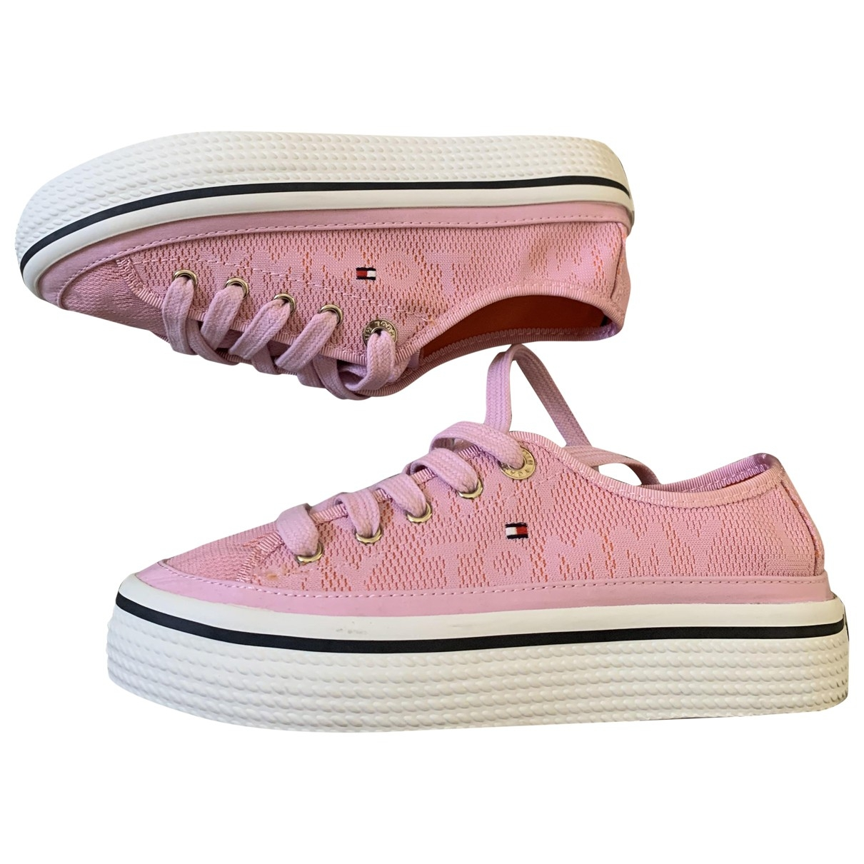 Tommy Hilfiger \N Pink Cloth Trainers for Women 36 EU