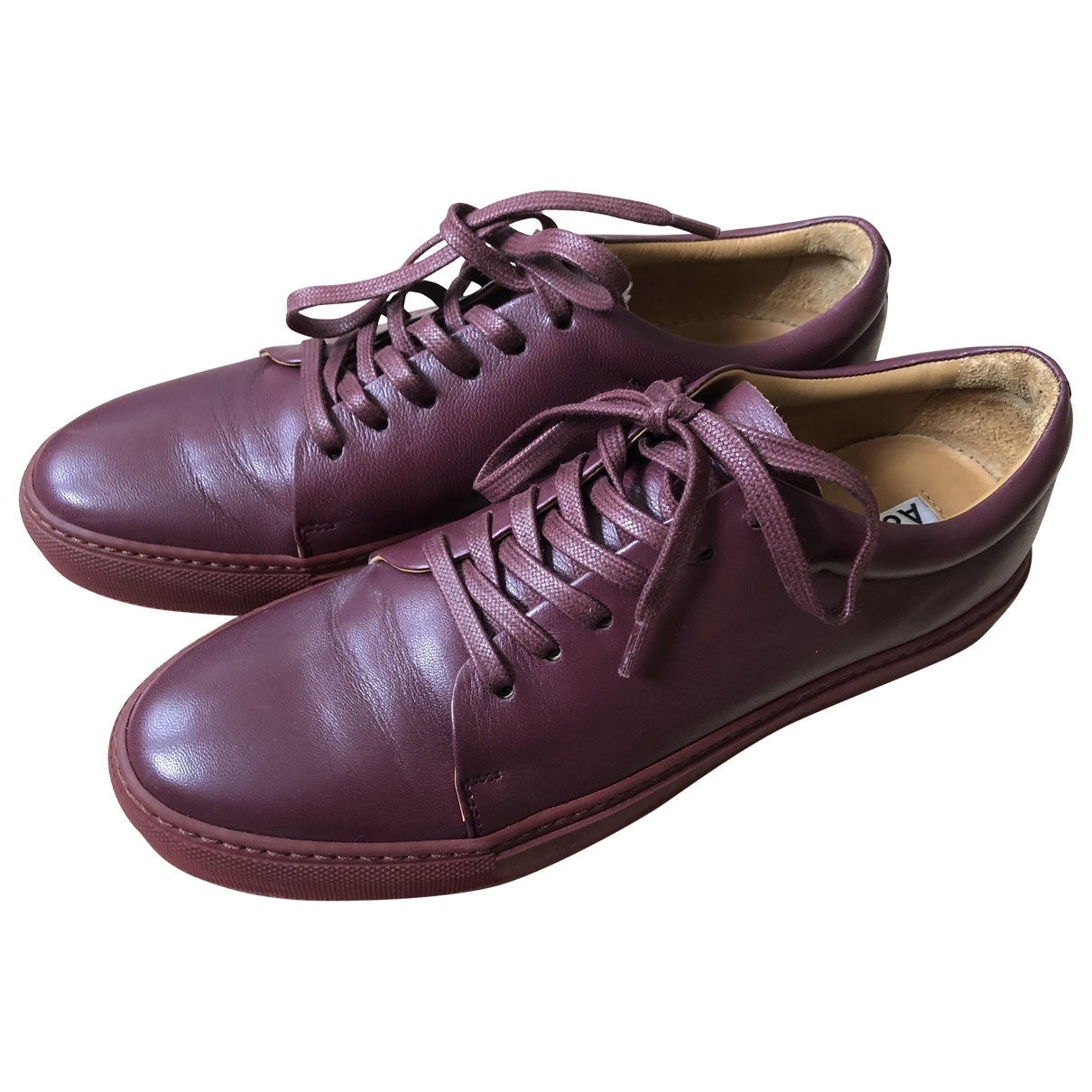 Acne Studios \N Burgundy Leather Trainers for Women 40 EU