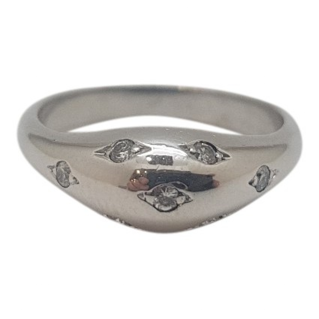 Non Signé / Unsigned \N White White gold ring for Women 50 MM
