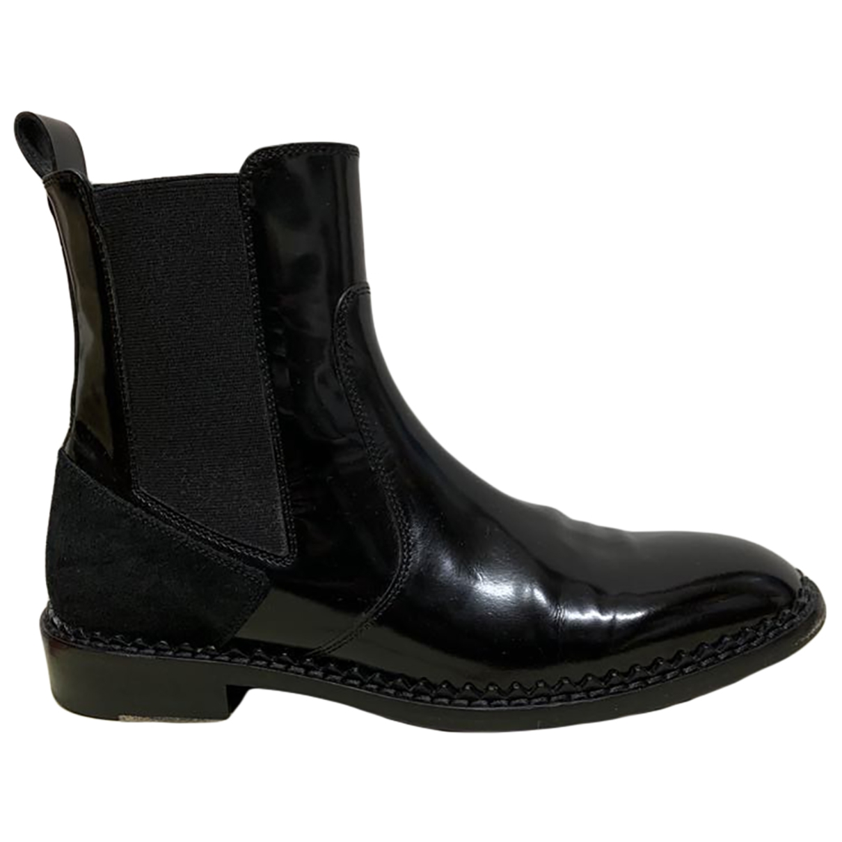 John Galliano \N Black Patent leather Ankle boots for Women 39 EU