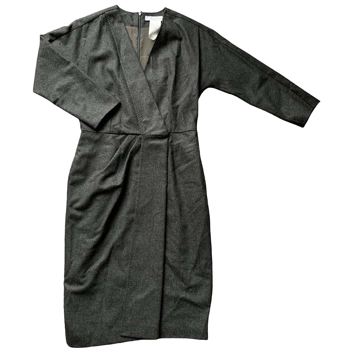 Max Mara \N Grey Wool dress for Women 42 IT