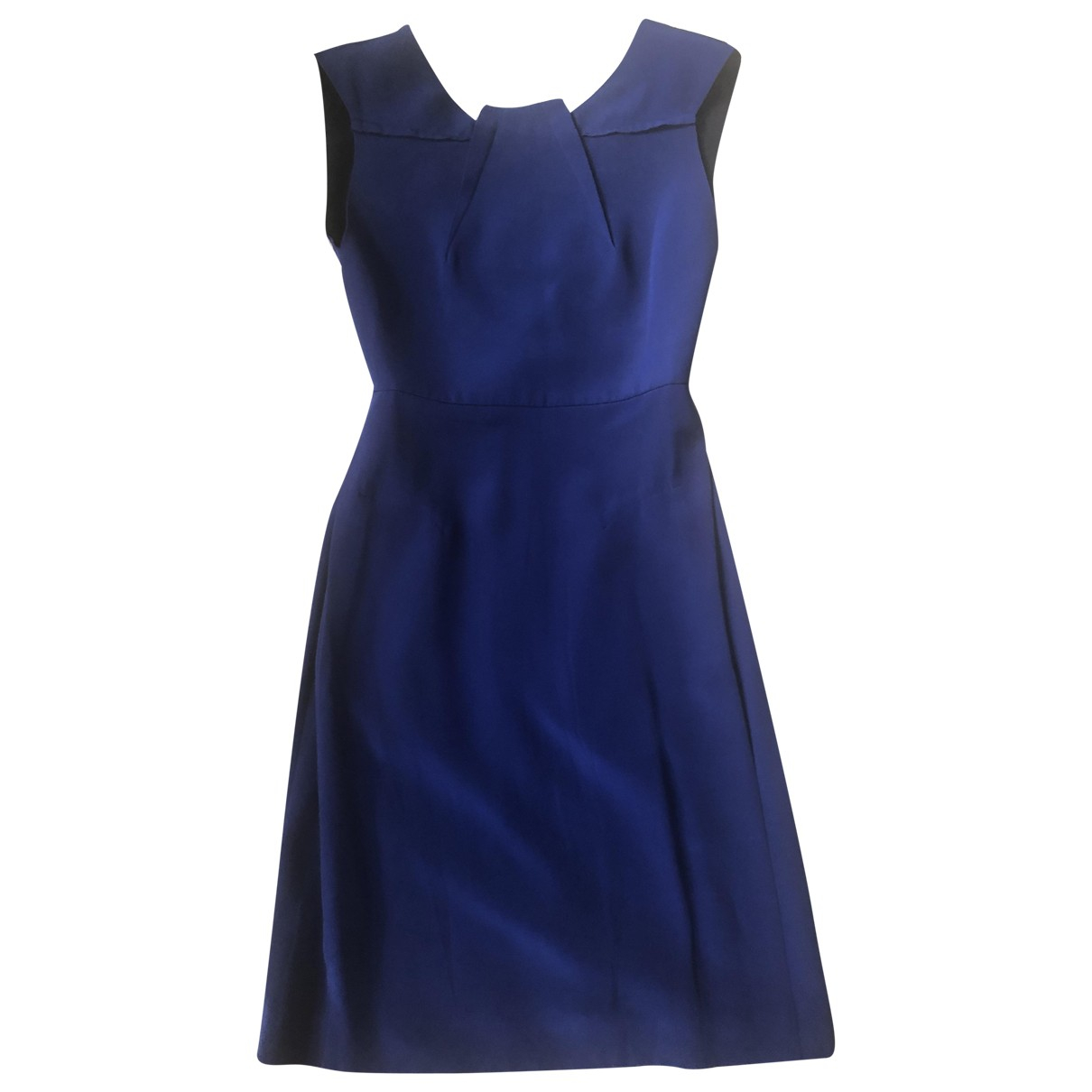 Roland Mouret \N Kleid in  Blau Seide