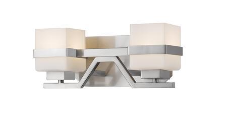 Ascend  1915-2V-BN-LED 13.5 2 Light Vanity Light Contemporary  Transitional  Fusionhave Steel Frame with Brushed Nickel finish in Matte