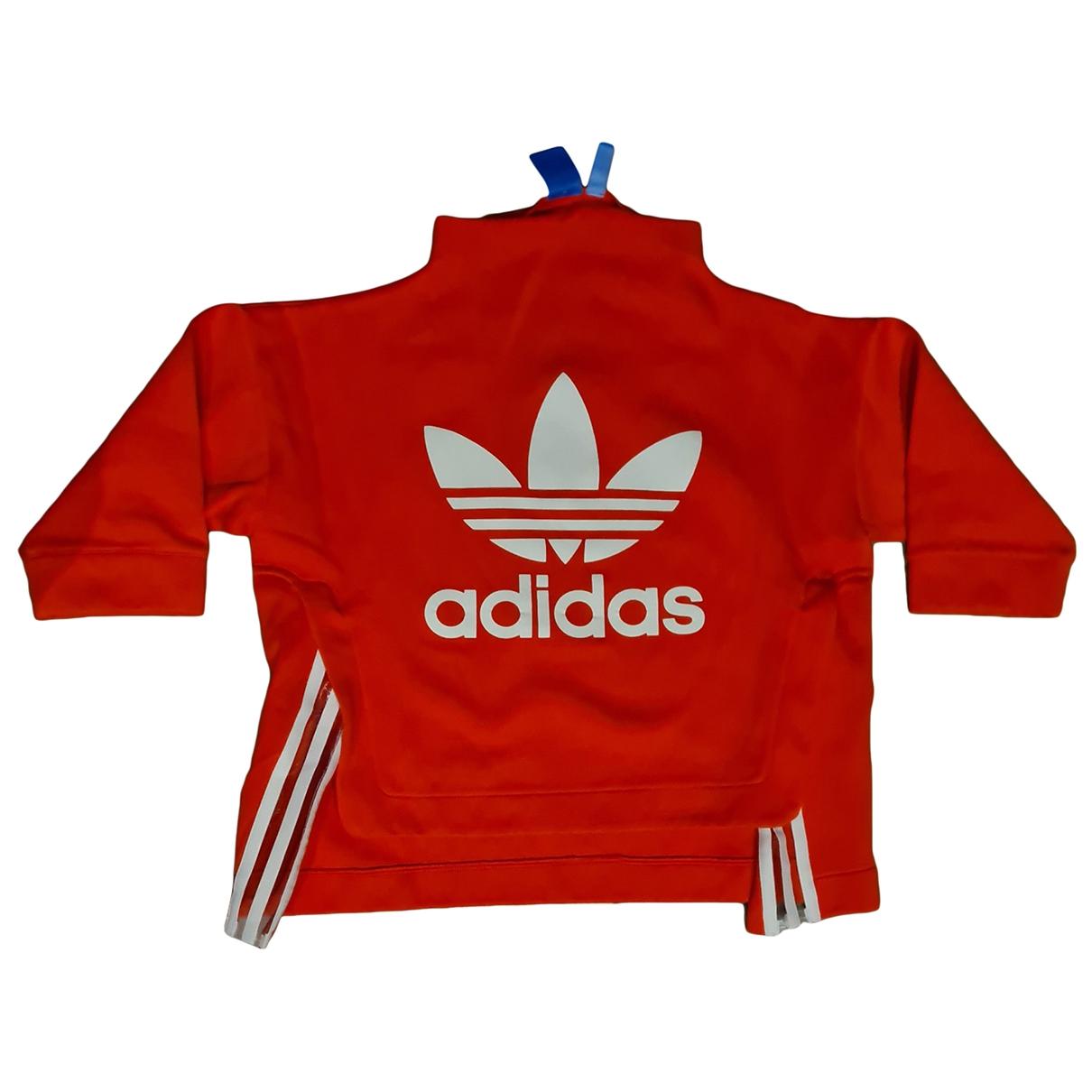 Adidas - Top   pour femme en coton - rouge