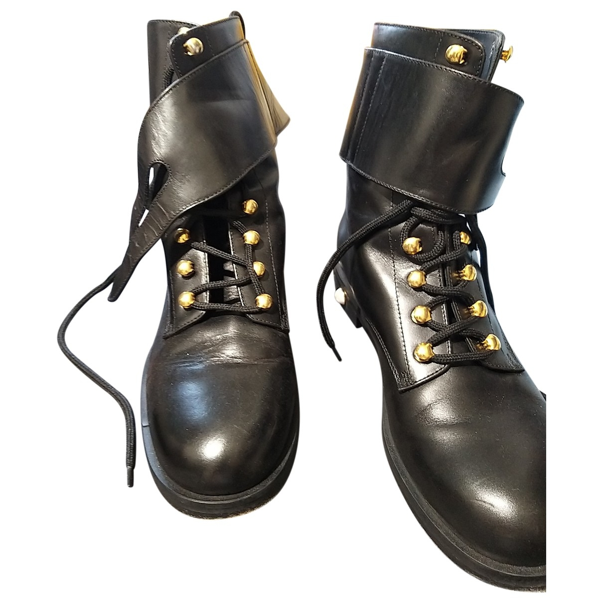 Pinko \N Black Leather Boots for Women 39 EU