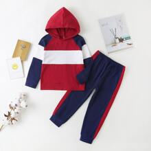Toddler Boys Colorblock Hoodie & Sweatpants