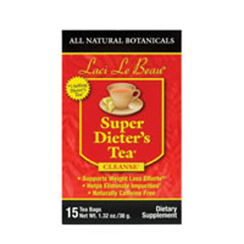 Laci Le Beau Super Dieters Tea All Natural Botanicals 15 Bags by Laci Le Beau